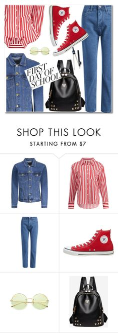 """""""back to school"""" by paculi ❤ liked on Polyvore featuring Converse"""