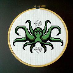 Cthulhu Cross Stitch PDF Pattern by LadyBeta on Etsy, $3.00