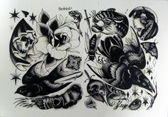 Pari Corbitt Tattoo Art Flash Sheet 05