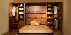 Toronto Murphy Beds or Wall Beds provide great space saving solutions. A great multi-functional solution for small spaces, home office & studios. Cama Murphy Ikea, One Room Flat, Murphy-bett Ikea, Ikea Desk, Ikea Pax, Fold Up Beds, Home Instead, Modern Murphy Beds, Murphy Bed Plans