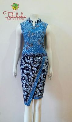 Model Dress Batik, Batik Dress, Patchwork Dress, Lace Dress, Kebaya Dress, Batik Kebaya, African Wear, African Fashion, Batik Fashion