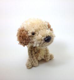 Stuffed Dog Labradoodle Amigurumi Dog Crochet Puppy Plush Doll / Made to Order. $25.00, via Etsy.