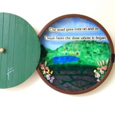 A Hobbit door that you can hang on the wall.  It open up to a view of the Shire with a quote from Tolkien.