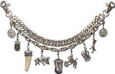 Alpenflüstern Herren Trachten-Charivari Josef altsilber-farben HCH00900095 Lederhosen, Ticks, Germany, Jewelry Making, Charmed, Jewels, Tattoos, Bracelets, How To Make