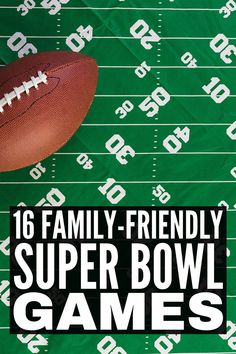16 Super Bowl Games For All Ages | If you're looking for activities and games to play on Super Bowl Sunday, this post has tons of fun family-friendly ideas to inspire you! From minute to win it games, to free printable bingo board play cards, to prize ideas everyone will love, this collection of Super Bowl Sunday activities for kids and adults is your ticket to hosting a party that will be enjoyed by all ages and stages! Super Bowl Drinking Game, Super Bowl Prop Bets, Free Printable Bingo Cards, Prize Ideas, Cupcake Diaries, Sunday Activities, Bingo Board, Making Homemade Pizza, Minute To Win It Games