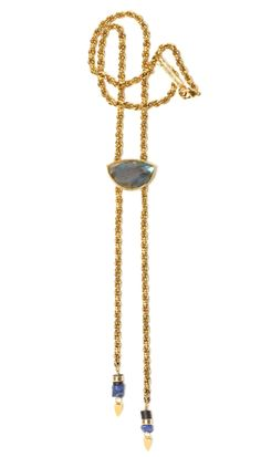 THE MINIMAL LUXE BOLO IN LABRADORITE | Lizzie Fortunato