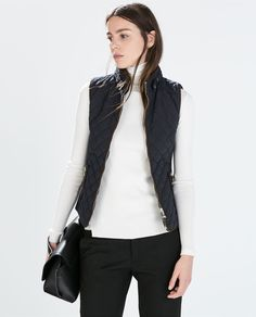 Image 2 of QUILTED WAISTCOAT WITH PIPING from Zara