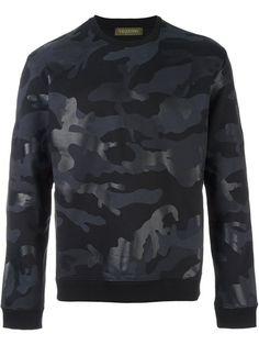 VALENTINO Camouflage Print Sweatshirt. #valentino #cloth #sweatshirt