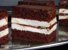 Fenomenální řezy Kinder Pingui | NejRecept.cz Sweet Desserts, Dessert Recipes, Toblerone, Shortbread, Coco, Nutella, Tiramisu, Food And Drink, Sweets