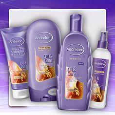 Nieuw. Andrélon Oil & Care. Extra verzorging met Marokkaanse Arganolie voor controle over je droge, pluizige haar.