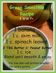 Green smoothie recipe. Sounds gross, but it's really good.