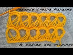 Fazendo crochê peruano!!! A pedido das meninas - YouTube