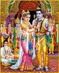 Swayamvara Parvati homam is performes to please Goddess Parvati, the consort of Lord Shiva. This homam yields maximum benefits when performed on Vivah Panchami day. It helps to remove all misunderstanding and improve the wavelength between the couple. Shiva Art, Krishna Art, Hindu Art, Radhe Krishna, Krishna Leela, Shiva Hindu, Hindu Deities, Lord Rama Images, Lord Shiva Hd Images