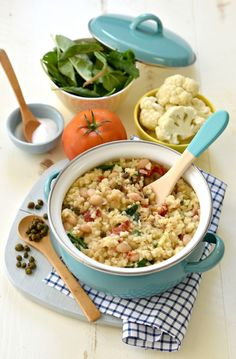 This Cauliflower Risotto dish is jam-packed with nutrition and oh-so-good-for-you goodness that you just might do a cartwheel after you finish your dinner.