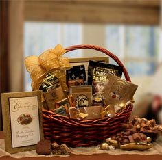 Large Chocolate Gourmet Gift Basket  Makes a Perfect Holiday Gift   #HealthySnacks
