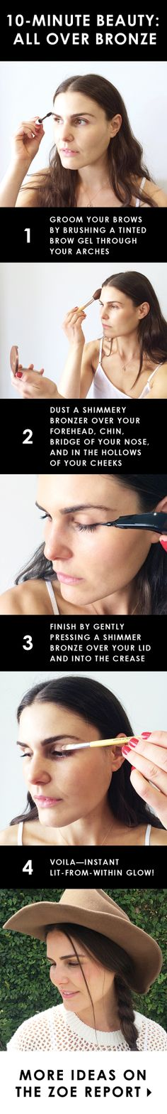 10-Minute Beauty: All Over Bronze #beauty #tutorial