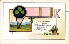 Patrick's Day Postcard, Visual Studies Collection, Library of Virginia. Golden Age, St Patrick, Postcards, Virginia, Scrapbooking, Faith, Day, Green, Image