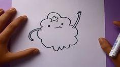 como dibujar a la princesa dulce - YouTube