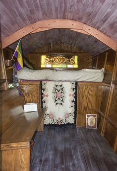 Inside gypsy wagon from MT
