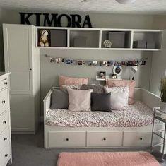 Room Design Bedroom, Room Ideas Bedroom, Home Room Design, Small Room Bedroom, Girl Bedroom Designs, Bedroom Decor, Daybed Bedroom Ideas, Daybed Bedding, Girls Daybed Room