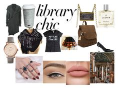 """Library Haven"" by fallen-wolf on Polyvore featuring Miller Harris, Fitz & Floyd, TOMS, Lost & Found, Yves Saint Laurent, FOSSIL and librarychic"