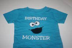 Sesame Street Birthday Cookie Monster TShirt by JustMyType2, $24.99