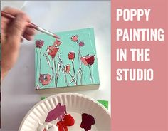 Poppy Painting Demonstration | kellieDAYart What Makes You Happy, Are You Happy, Watercolour Painting, Painting & Drawing, Mixed Media Techniques, Handmade Stamps, My Calendar, Happy Paintings, Pep Talks