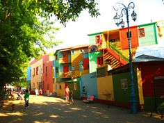 Colorful Neighborhood, Buenos Aires, Argentina