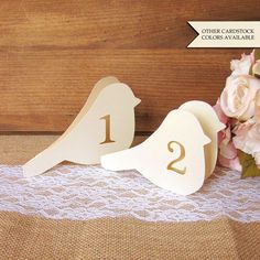 Bird table number  Wedding table numbers  by DazzlingDaisiesCo