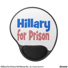 Hillary for Prison Gel Mouse Pad, pink & blue Gel Mouse Pad