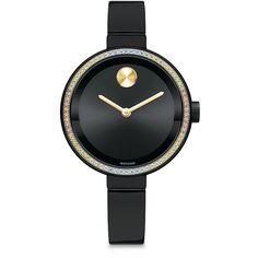 Movado Bold Diamond, Semi-Precious Multi-Stone & Black IP Stainless... (5,710 ILS) ❤ liked on Polyvore featuring jewelry, watches, apparel & accessories, black diamond bangle, bangle bracelet, stainless steel bangle bracelet, black diamond jewelry and diamond bracelet bangle