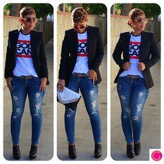 OOTD: Zara Blazer + God Can Tee details and links @ mimigstyle.com #zara #casual…