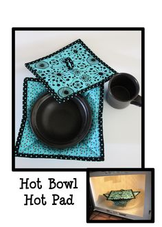Check out this adorable Hot Bowl Hot Pad by Whistlepig Creek Productions featuring fabrics from Ink Blossom by Sue Marsh for RJR.