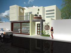 Fachadas blancas minimalistas: Frentes contemporáneos
