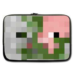 Sleeve for 13  13.3  Laptop Minecraft Zombie Pigman