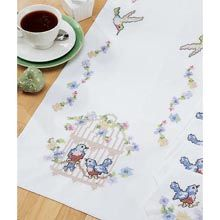 Craftways® Birdcage Table Runner Stamped Cross-Stitch Kit - Herrschners