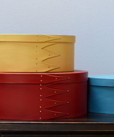 Shaker oval boxes / farbig / Seeland