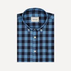 Denver Gingham Shirt in Periwinkle | Frank & Oak