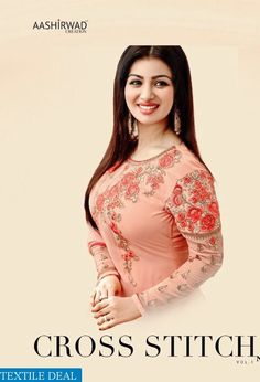 1b55262f4a5 Shop Now Aashirwad Cross Stitched Vol Ayesha Takia s  FancySuits Online at  Wholesale Rate