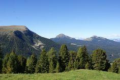 Vanaf pad 23 uitzicht op de ( van linksaf genoemd) Zanggen-2500m, Schwarzhorn-2000m en de Weisshorn-2316m.
