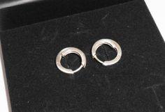 Vintage Ohrhänger - 925er Silbercreolen Creolen Ohrringe  rund SO149 - ein Designerstück von Atelier-Regina bei DaWanda