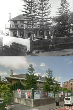 Ormond House, 250 Oxford Street, Paddington in 1895 and 2014. [1895 - Sydney City Image Library>2014 - Google Street View. By Phil Harvey]