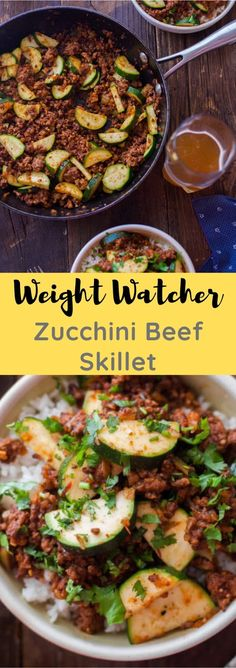Weight Watcher Zucchini Beef Skillet Source by Weight Watchers Zucchini, Weight Watchers Chicken, Weight Watchers Meals, Healthy Low Carb Dinners, Low Carb Dinner Recipes, Healthy Eating, Healthy Recipes, Ground Beef Recipes, Pork Recipes