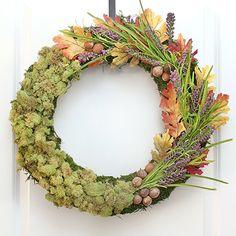 Fall Moss Centerpiece + Wreath