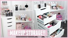 MAKEUP STORAGE & ORGANIZATION for IKEA Alex Drawers Pt 2 - YouTube