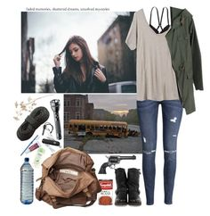 """""""W a l k i n g D e a d O C - P r i y a"""" by l-x-ily ❤ liked on Polyvore featuring мода, Revolver, American Eagle Outfitters, H&M, Mlle Mademoiselle, Frye, Friis & Company, Victorinox Swiss Army, Starter и Maglite"""