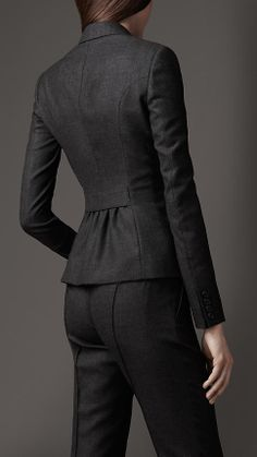 Travel Tailoring Wool Microcheck Jacket | Burberry