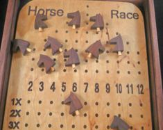 Deluxe Horse Race Game by ClassicGames on Etsy Horse Race Game, Horse Racing, Yard Yahtzee, Video Game Costumes, Wooden Board Games, Bored Games, Educational Games For Kids, Derby Party, Camping Games