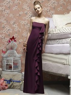 Sleek #purple dress! Love the side design!