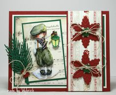 Cards made by Wybrich: christmas 3d Cards, Marianne Design, Card Making Inspiration, Daisy, Christmas Cards, Frame, Painting, Home Decor, Xmas